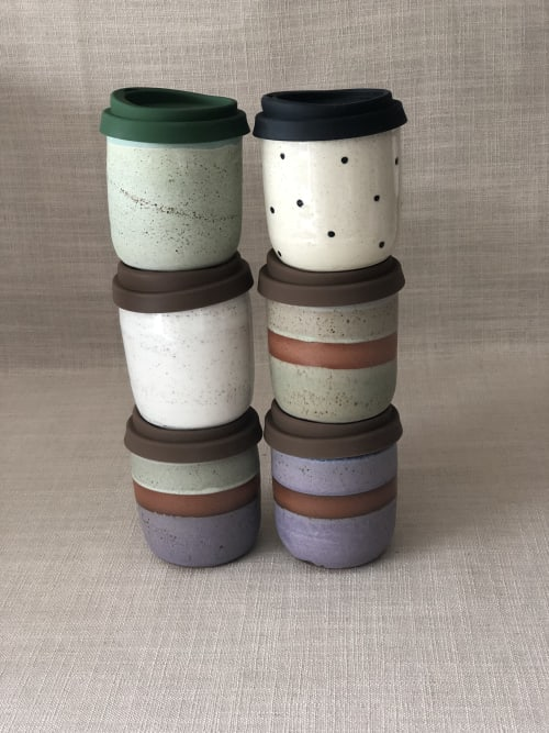 Cups by Galit Maxwell Pottery seen at Wellington, Wellington - Travel coffee cup