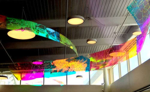 Sculptures by Canneto Studios seen at Dayton Metro Library - Vandalia Branch, Vandalia - Currents