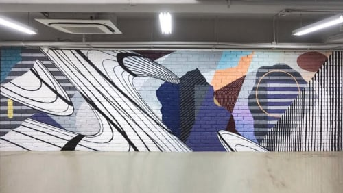 Murals by JAY KAES seen at Hong Kong - Fashion
