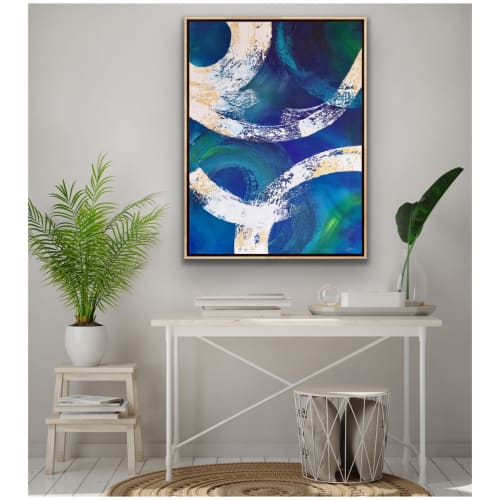 Paintings by Mami Ishibashi seen at Private Residence - Dive in the sea, and you'll wait and see
