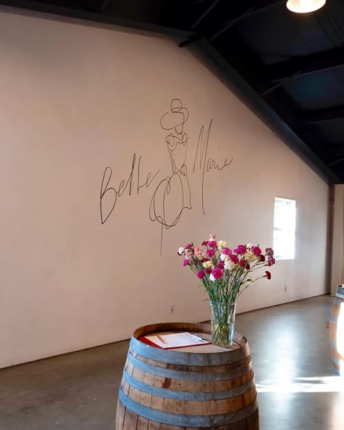 Murals by Coral Monday seen at Belle Marie Winery, Escondido - Belle Marie Winery Mural