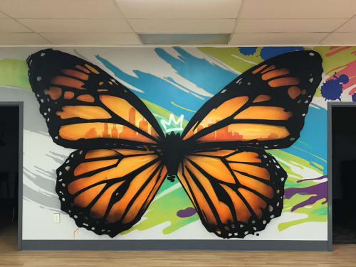 Murals by Michael McPheeters seen at The Refuge Dallas, Dallas - Donation Mural