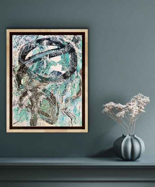 Paintings by K'era Morgan seen at Private Residence, Los Angeles - Serpent Series II