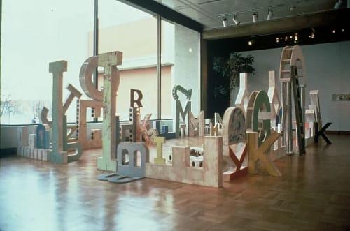 Sculptures by Rodney Christopher Stuart seen at Washington State University, Pullman - Alphabet Garden