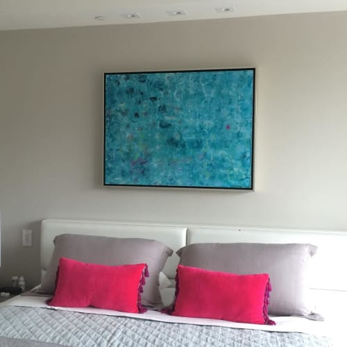 Paintings by Andrea Bonfils at Private Residence, Miami Beach - Oil and Encuastic