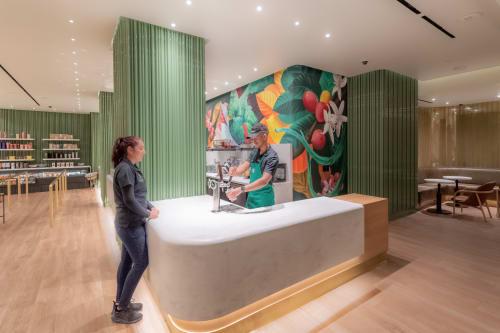 Murals by David Rice seen at Sahara Las Vegas, Las Vegas - Starbucks at Sahara Las Vegas