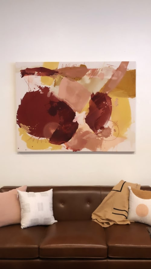 Paintings by Christine Cover seen at Golden & Pine, Prairie Village - Desert Pink