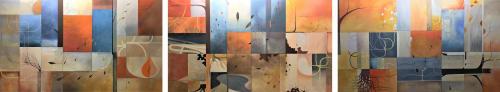 Paintings by Gregory Gove seen at Le Méridien St. Louis Clayton, St. Louis - Plasticity / Currents, Pathways & Passages