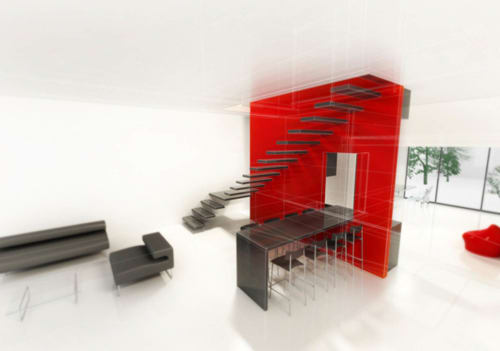 Architecture by Carola Vannini seen at Private Residence, Rome - The non.wall concept Project