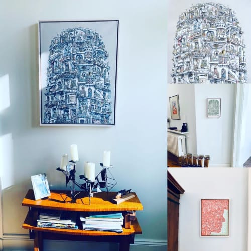 Art Curation by Alexis Duque seen at Private Residence, Berlin - My Paintings in their new home in Berlin