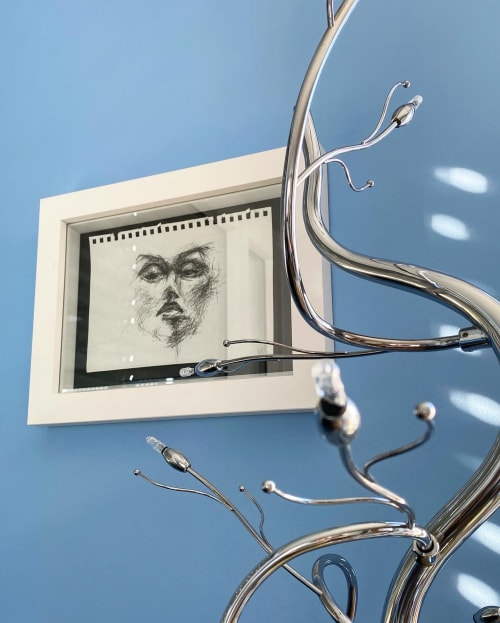 Paintings by mariaweiss_art_design seen at Creator's Studio, Munich - Self-Portrait Sketch
