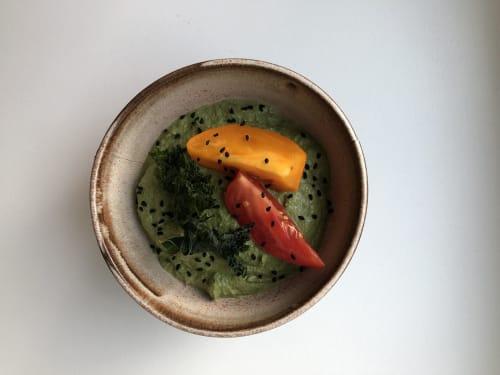 Ceramic Plates by Ceramicsbytiz seen at Private Residence, Paris - Ceramics for vegan pop-up supper club