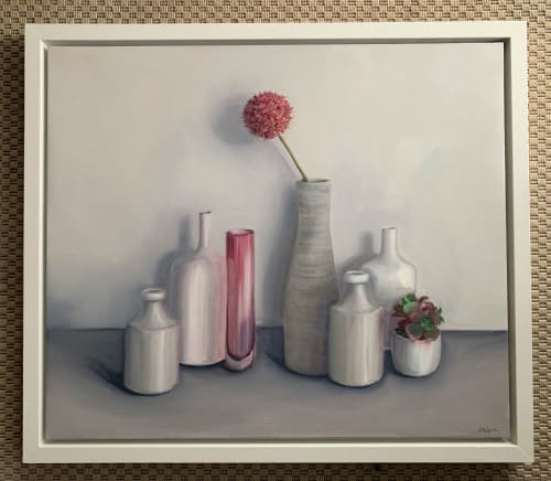 Paintings by Jonquilsart - Pots with allium