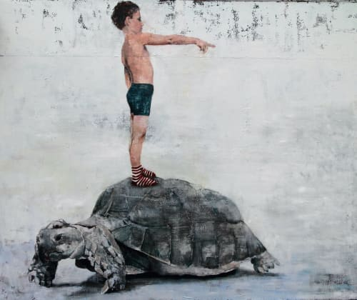 Paintings by Brian Keith Stephens seen at Private Residence, Miami Beach - Contemporary Worrier