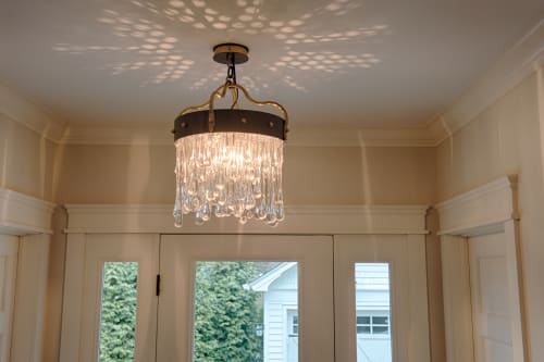 Chandeliers by The Glass Asylum seen at Private Residence, Cleveland - Custom Residential Chandeliers