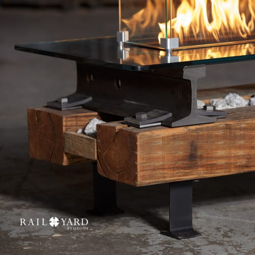 Fireplaces by Rail Yard Studios seen at Rail Yard Studios - Custom Furniture Designers and Builders, Nashville - Trackside Fire Pit