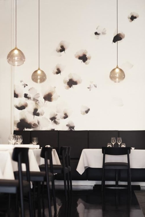 Wallpaper by Emma Hayes seen at Sid at The French Cafe, Auckland - Custom Wallpapers