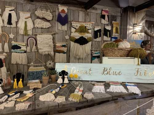 Great Blue Fiber - Wall Hangings and Macrame Wall Hanging