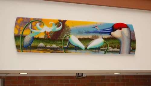 Art & Wall Decor by Michael Dupille seen at Daybreak Primary School, Battle Ground - Attention Distraction