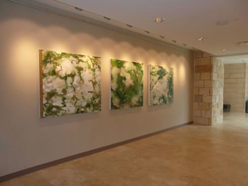 Paintings by Shawn Camp seen at Texas A&M University-Central Texas, Killeen - Suite of 3 paintings