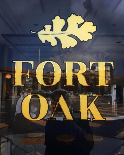 Signage by Dewayne Norton Sungold Signs seen at Fort Oak, San Diego - Window art