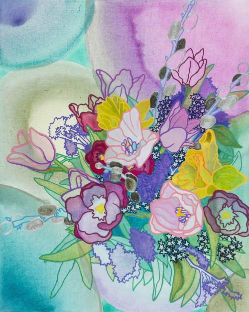 Paintings by Elizabeth Gahan seen at Linda Hodges Gallery, Seattle - Becoming