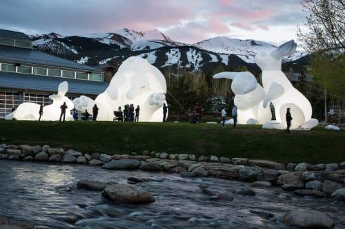 Public Sculptures by Parer Studio seen at Breckenridge Ski Resort, Breckenridge - Intrude Family