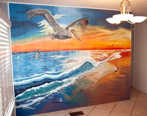 Murals by Cassondra Wyant seen at Private Residence, Naples - Custom Mural