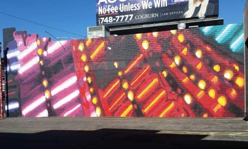 Street Murals by Jerry Misko seen at Jammyland Cocktail Bar & Reggae Kitchen, Las Vegas - Wall Mural