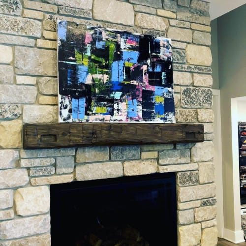 Paintings by Jamie Jorndt seen at Lakeside Fireplace, Lake Geneva - Series City