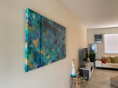 Paintings by Lifrancis Rojas seen at Private Residence, Orlando - Peace of Mind