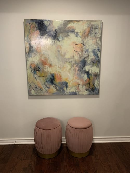 Paintings by Kelly Dillard Art seen at Private Residence - Abstract Private Collection