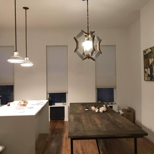 Pendants by New York Vintage Lighting seen at Private Residence, Brooklyn - Kitchen/Dining Custom Lighting