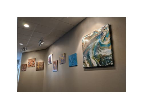Paintings by Soulscape Art seen at Slate Venues at II Creeks, Richardson - Soulscape Art Gallery