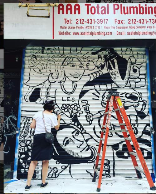 Street Murals by Kim Sillen Art  + Design seen at 58 Orchard St, New York - Pipe Dream Gate