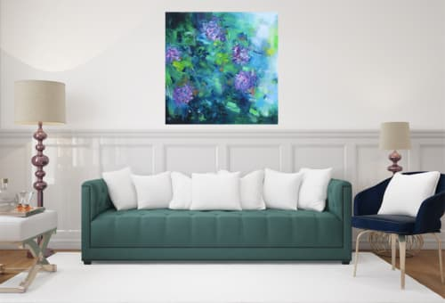 Paintings by Art by Geesien Postema seen at Martini Hospital, Groningen - Floral obsession