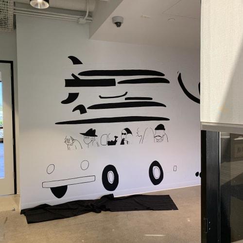 Murals by Yusuke Hanai seen at VANS, Costa Mesa - Indoor Mural