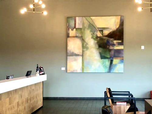 Paintings by Open Eye Art seen at Resonance Vineyard, Carlton - Resonating Landscape