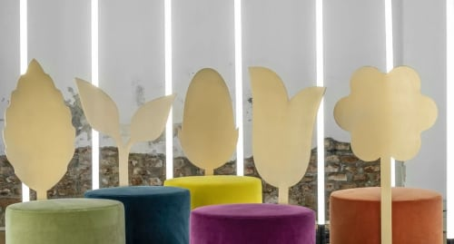 Chairs by SECOLO seen at Creator's Studio, Milan - Giardino Botanico COLLECTION