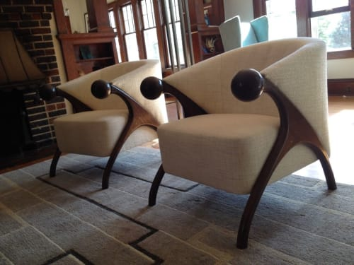Chairs by Willie Willette Works seen at Private Residence, Minneapolis - Claire Chair