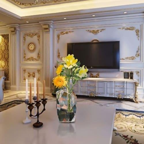 Vases & Vessels by Dainte seen at Private Residence, Monroe - Crystal prism flower vase
