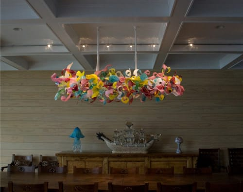 Chandeliers by April Wagner, epiphany studios seen at Private Residence - Candy Shop Chandelier