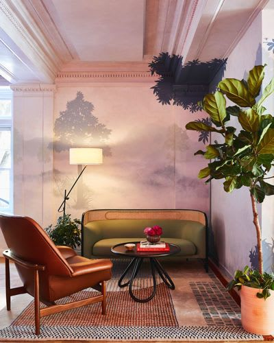Murals by Kelly Walker seen at Hotel Revival Baltimore, Baltimore - Lobby Mural