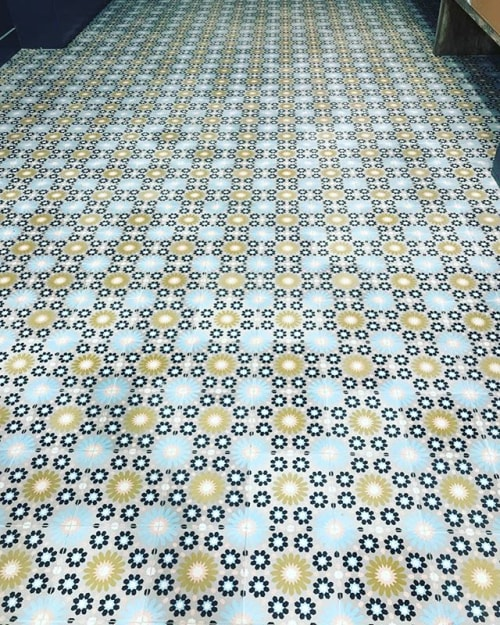 Tiles by Amethyst Artisan seen at Mulberry & Vine, New York - Fleur Sauvage Cement Tiles
