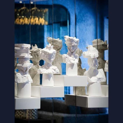 Sculptures by Kathy Dalwood seen at The Darcy Washington DC, Curio Collection by Hilton, Washington - Plaster Busts