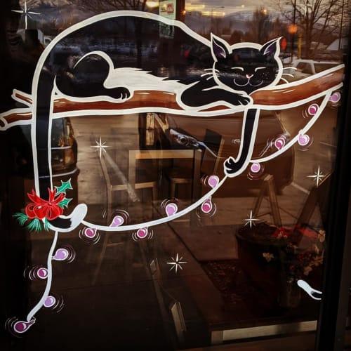 Signage by Ann Karp seen at Black Cat Bake Shop, Missoula - Black Cat