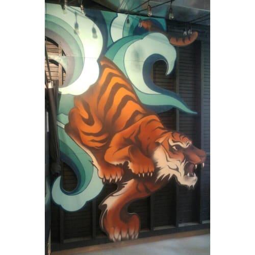 Murals by Ashley Montague seen at Kim Jong Smokehouse, Portland - Indoor Mural