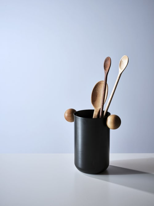 Utensils by Ndt.design seen at Creator's Studio, Delray Beach - Utensil/Plant Holder Wood Handle - Rondo Collection