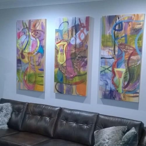 Paintings by Ginny Sykes seen at Private Residence, Chicago - Commissioned Painting