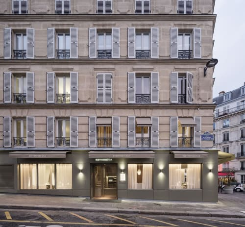 Architecture by REGIS BOTTA - ARCHITECTURES seen at 42 Rue Daubenton, Paris - RESTAURANT MAVROMMATIS